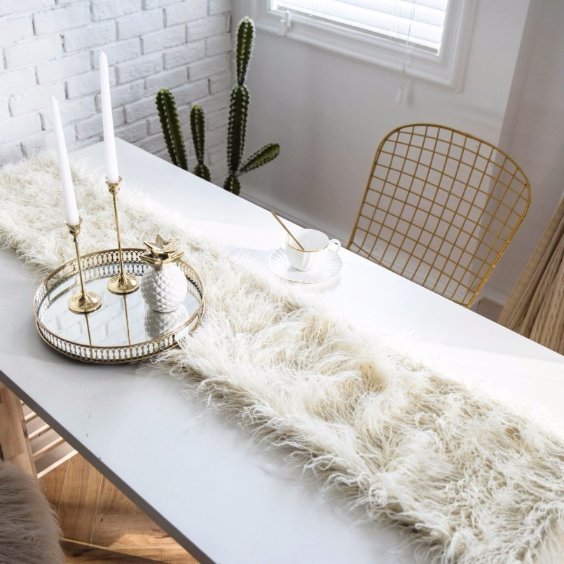 New Table Runner 100% Beach Wool Flag European Decoration Modern Wedding Desk Home