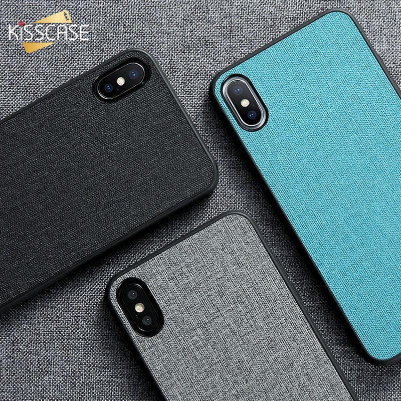 KISSCASE Phone Case For iPhone 7 8 For iPhone 8 7 6S 6 Plus Cloth Cases For iPhone XS MAX XR XS Soft Silicone Cover Accessories