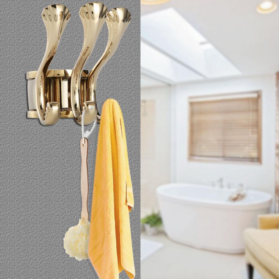 Bathroom Hardware Discreet Vintage Metal Towel Hanger Holder Clothes Coat Hat Bag Rack Hooks Wall Mount Antique Hat Scarf Handbag Storage Hangers To Be Distributed All Over The World Home Improvement