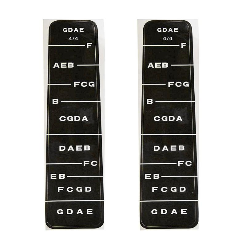 2pcs/set 4/4 Violin Fiddle Fingerboard Chord Note Stickers Fret Markers Labels Violin Beginer Learning Tool Instrument Accessory Musical Instruments
