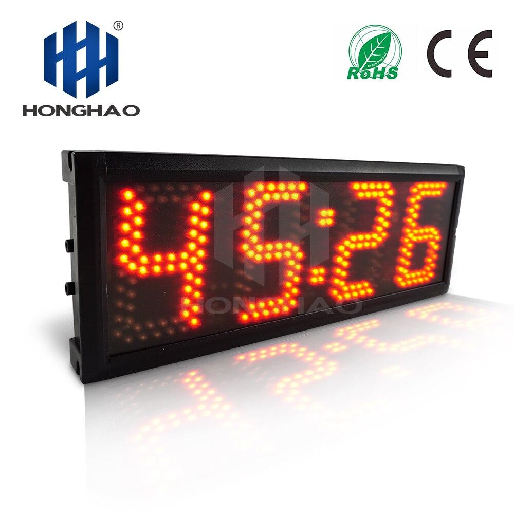 Alibaba express nouvelles inventions 5 pouces 4 chiffres rouge 7 segments lumière LED affichage de la fenêtre Honghao minuterie de LED en plein air
