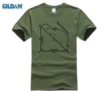 GILDAN Warhamme Math Shirts Geek Customized Hippopotenuse  Summer O-Neck Sleeve Shirt Cotton Flock Print Men s
