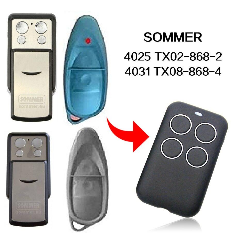 SOMMER 4025 4031 TX02-868-2 TX08-868-4 fernbedienung tor fernbedienung SOMMER garage tür fernbedienung 433,92 MHz