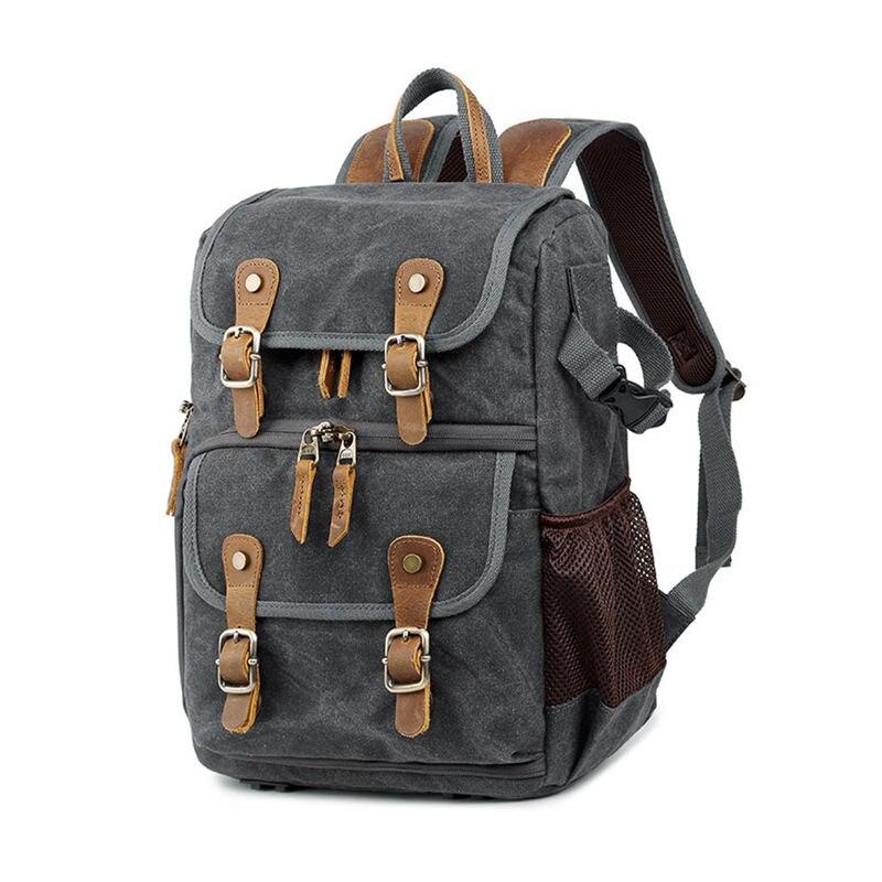 Hot TTKK haute capacité Batik toile tissu photographie sac à dos sac extérieur étanche caméra épaules sac à dos pour Canon pour