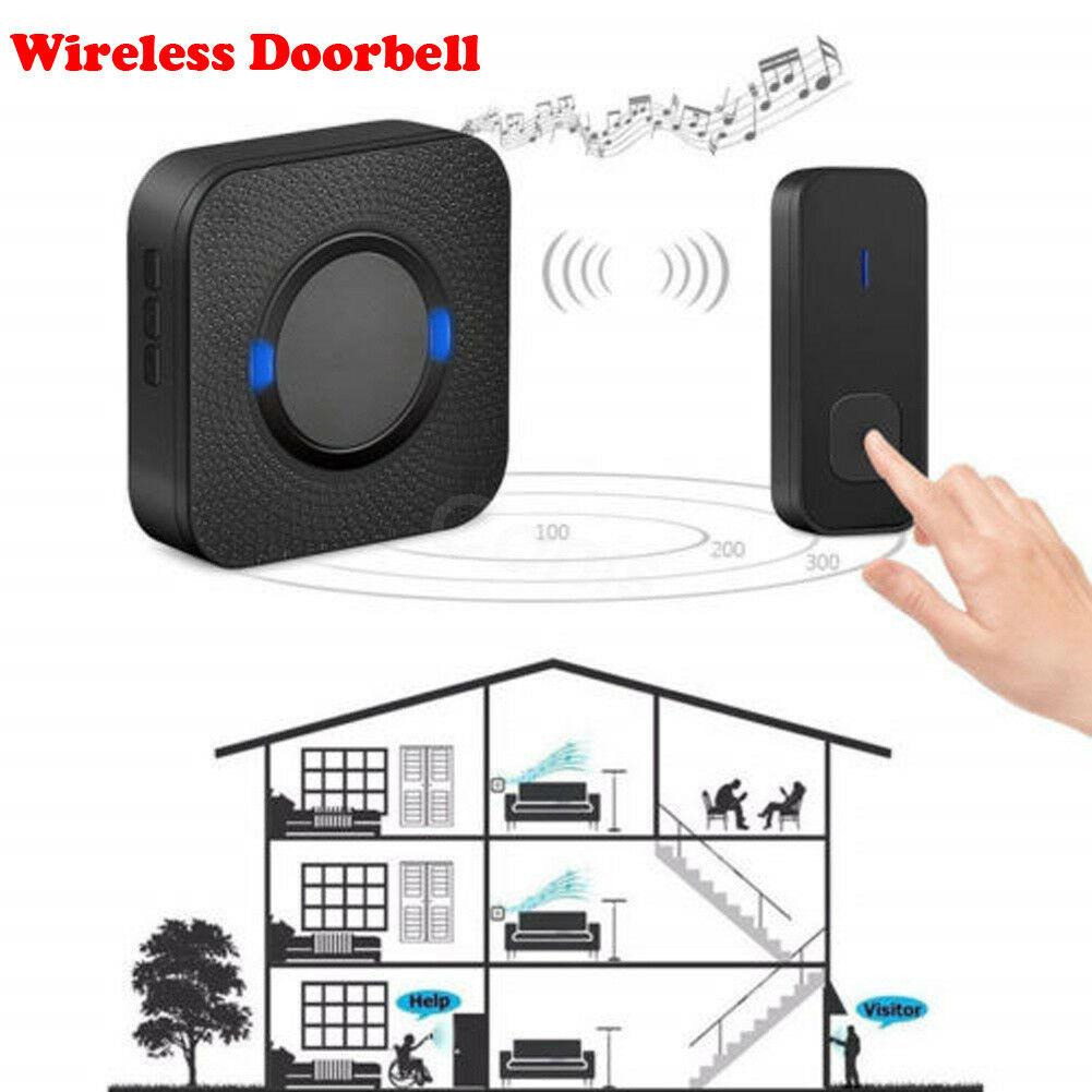 55 Chimes Wireless Cordless Wall Plug in Doorbell Waterproof Door Chime Kit 300M55 Chimes Wireless Cordless Wall Plug in Doorbell Waterproof Door Chime Kit 300M