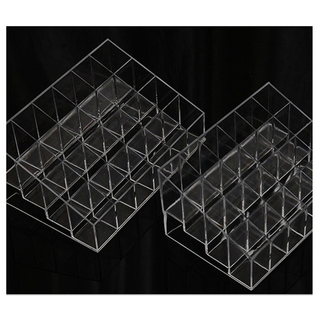 Hot 24 Grids Acrylic Makeup Organizer Cosmetic Box Storage Box Lipstick Jewelry Box Case Holder Display Stand Make Up Organizer 3