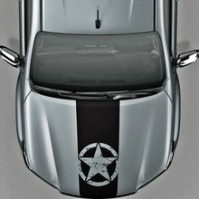 1PC Band Brothers Emblem Star Five-pointed decal hood graphic vinyl car sticker for toyota hilux revo vigo