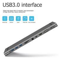 VODOOL USB HUB USB C to HDMI VGA RJ45 TF Mini DP Docking Station Adapter For MacBook Pro Type C USB 3.0 Hub Laptop Accessories