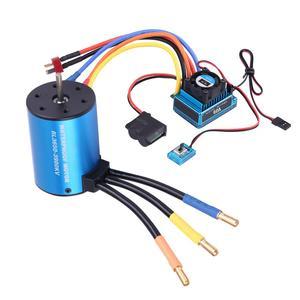 Image 2 - 3650 3900KV 브러시리스 모터 및 방수 60A/120A 브러시리스 ESC 전기 속도 컨트롤러 콤보 세트 1/10 RC 자동차 액세서리