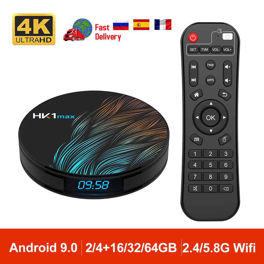DQiDianZ Android 9.0 HK1 MAX Mini Smart TV Box 2.4G/5G Wifi RK3328 Quad-Core BT 4.0