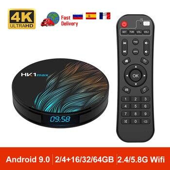 Android 9.0 HK1MAX Mini Smart TV Box 2.4G/5G Wifi Quad Core BT 4.0 Set Top Box Media Player Voice Control PK X96 HK1 MAX 2GB 4GB