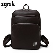 Backpack Men School Business Backpack Men's PU Leather Travel Computer Bag School Student Backpack Bag Bagpack Backpacks цена 2017