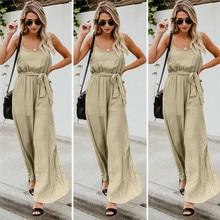 Women Summer Sleeveless Jumpsuit Fashion Casual