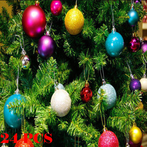 Christmas Tree Balls.Us 1 71 13 Off Cost Effective 24pcs Christmas Tree Xmas Balls Decoration Fashion Baubles Party Wedding Pretty Ornament In Ball Ornaments From Home