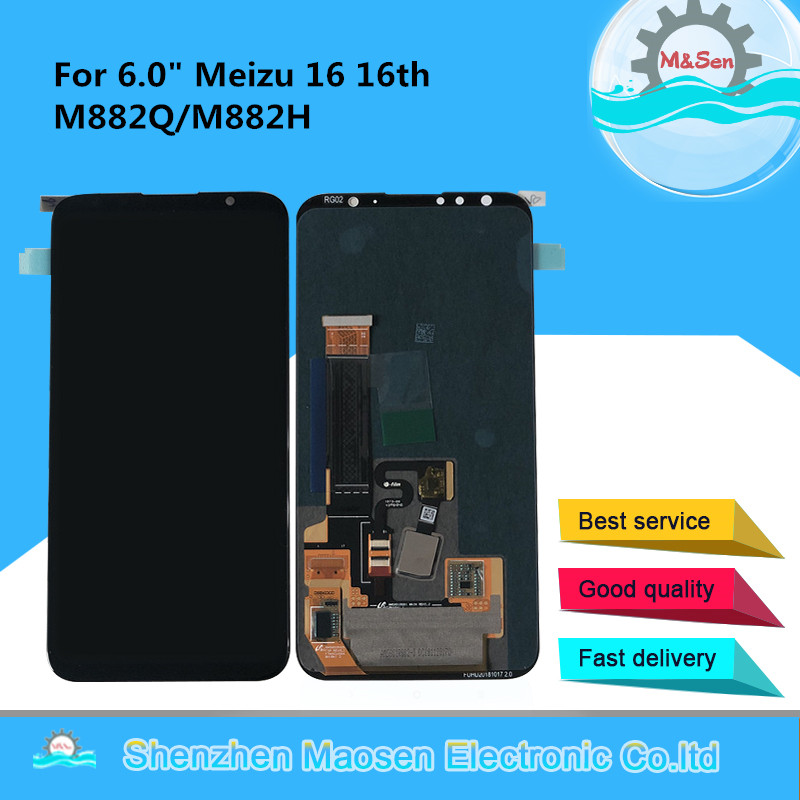 Original M Sen For 6 0 Meizu 16 16th M882Q Super AMOLED LCD Screen Display Touch
