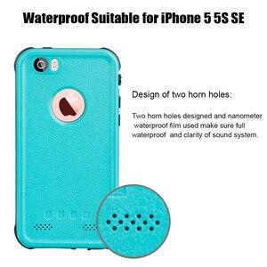Image 4 - IP68 מקרה עמיד למים עבור iPhone 7 8 שחייה צלילה חיצוני עמיד הלם כיסוי עבור iPhone 5S SE 2020 6S 7P 8 בתוספת הגנה מלאה