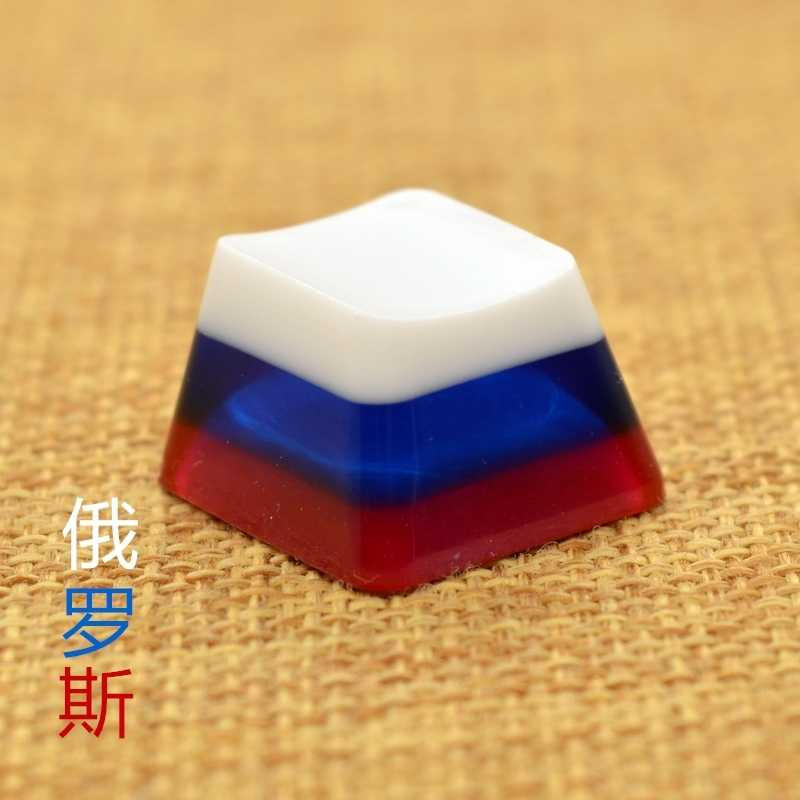 Keyboard keycaps 1pc Handmade Key Cap for MX Switches Mechanical Keyboard Keycap Axis Body : R3 Height, Color : SA Profile