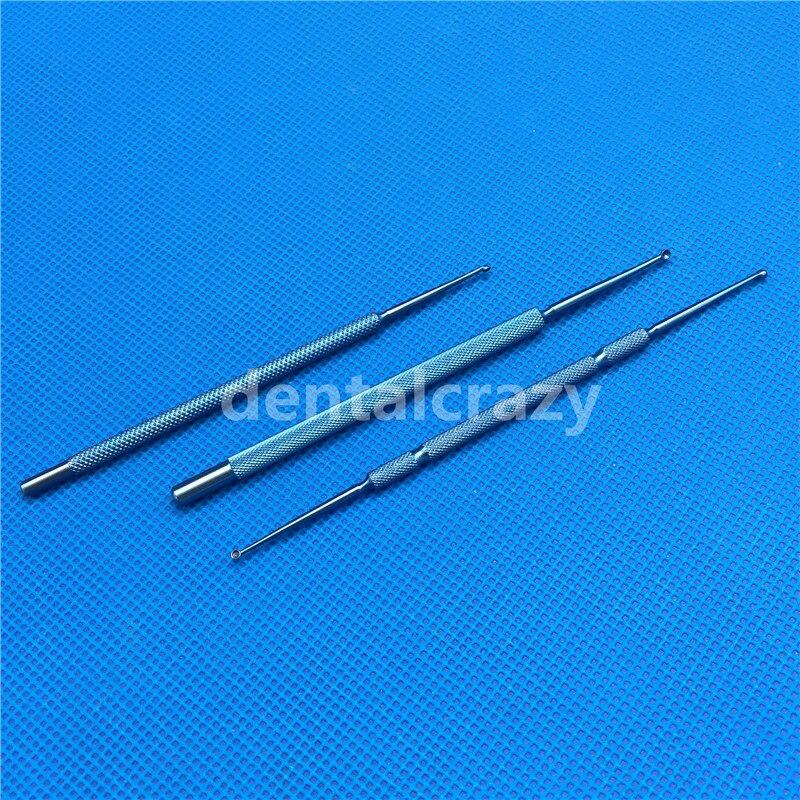 1 шт. 2,0 мм Титан Chalazion кюреты/Двусторонняя Micro офтальмологических хирургических инструментов