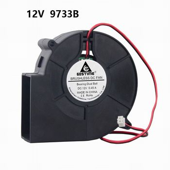 цена на Gdstime Turbo Centrifugal Fan 12V 24V 97mm 97mm x 33mm Blower Fan High Air Pressure DC Brushless Blower Cooler Fan