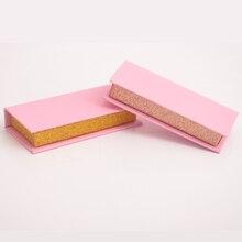 10 шт оптовая продажа накладных ресниц упаковочная коробка ваше лого на заказ поддельные 3d норковые ресницы коробки розовые Искусственные накладные ресницы чехол пустой