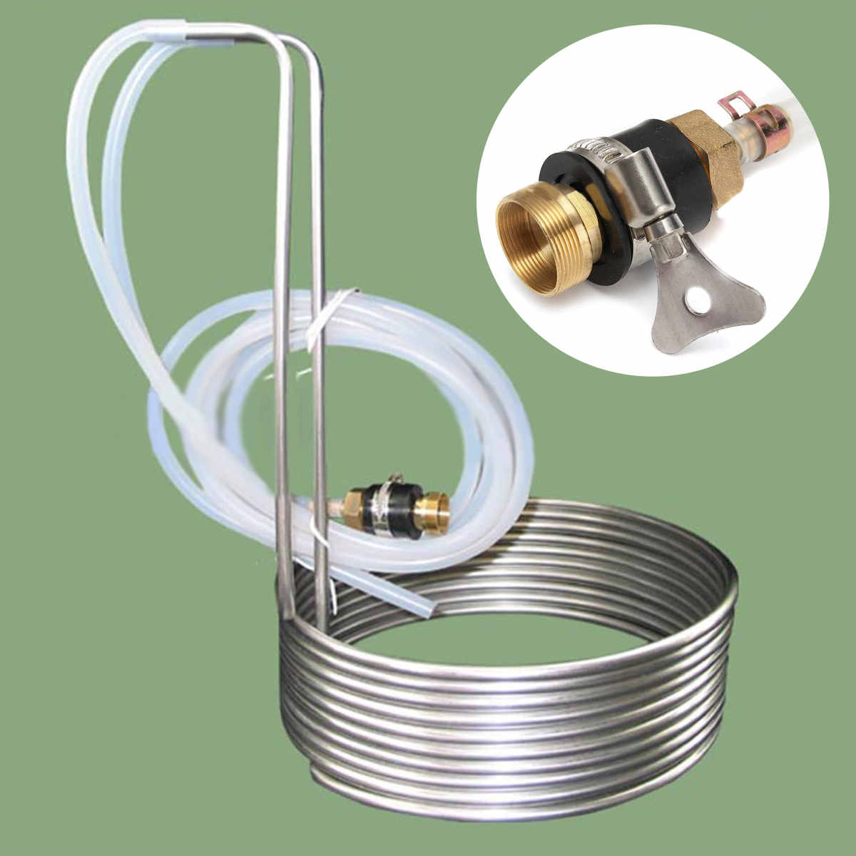 304 Stainless Steel Immersion Wort Chiller Tube Home Brewing Super Efficient Wort Chiller Home Wine Making Machine Part New304 Stainless Steel Immersion Wort Chiller Tube Home Brewing Super Efficient Wort Chiller Home Wine Making Machine Part New