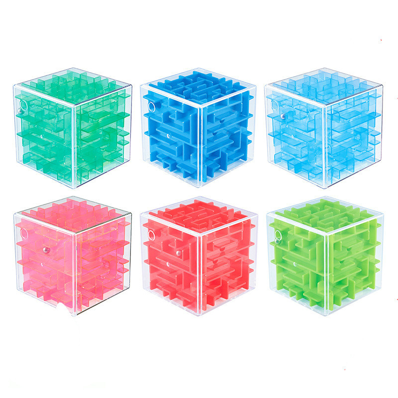 Moyu 3D Mini Speed Cube Maze Magic Cube Puzzle Game Cubos Magicos Learning Toys Labyrinth Rolling Ball Toys For Chilren Adult