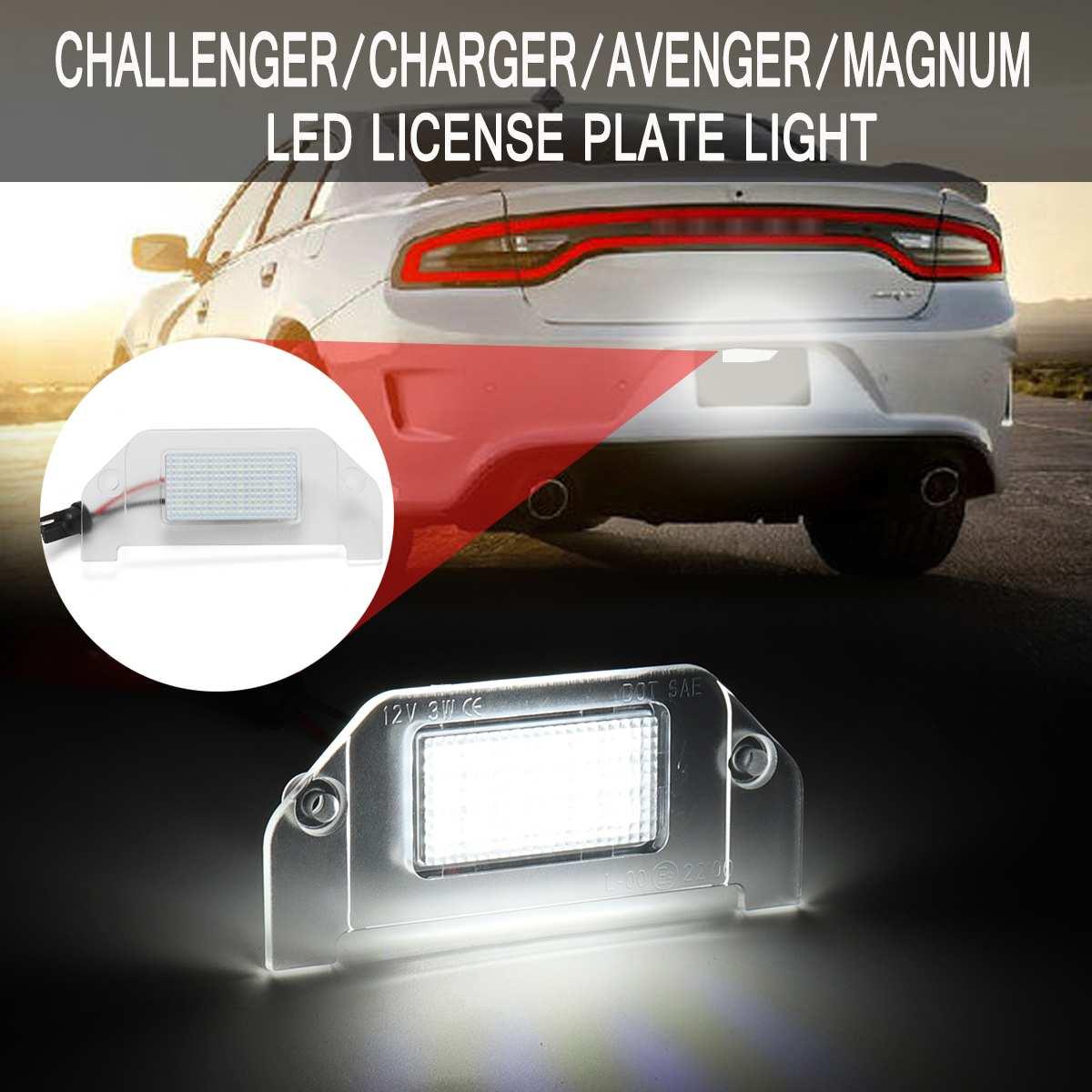 LED Car License Plate Light For Dodge Challenger Charger