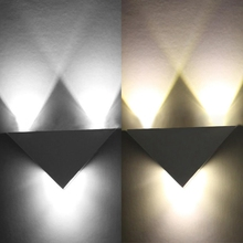 industrial AC 85-265V 3W LED Wall Light Triangle Sconce Lamp for Home Bedroom Bar Cafe Restaurant wall lamps indoor modern indoor led wall lamp ac 85 265v 9w triangle garden lights ip54 waterproof outdoor balcony aisle night light for home decoration