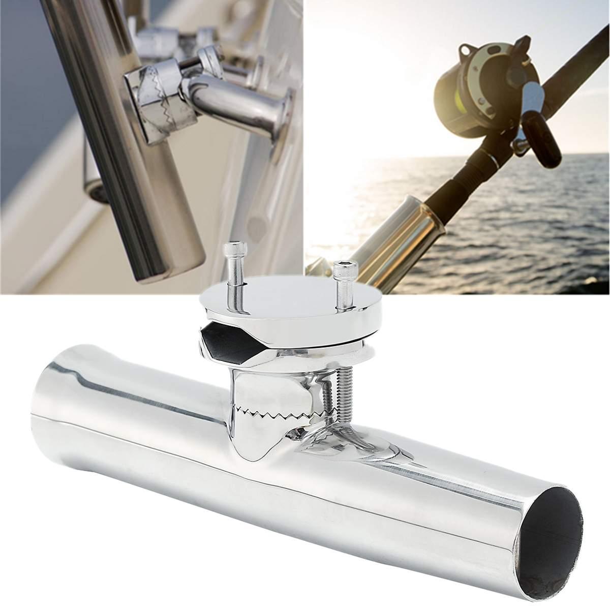 Pince de canne à pêche de bateau marin sur monture pour support 316 acier inoxydable pour Rails 28-60mm 360 degrés matériel marin réglable