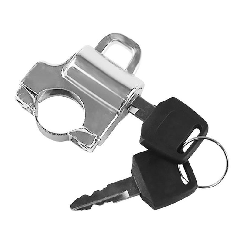 Universal Metal Motorcycle Helmet Lock Motorbike Hanging Hook Keys Set Handle Bar Accessories Fit For 22mm Faucet Handlebar