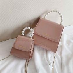 Meninas noite crossbody sacos mini bonito tote moda pérola lidar com corrente saco de ombro feminino bolsa de couro do plutônio bolsa feminina