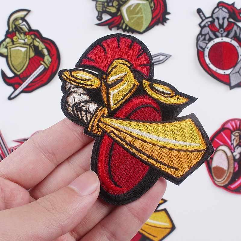 Pulaqi sparacus Batman soldat fer sur patchs pour vêtements sparte Dota Newbee brodé Patch bricolage décoration pour T-shirt F