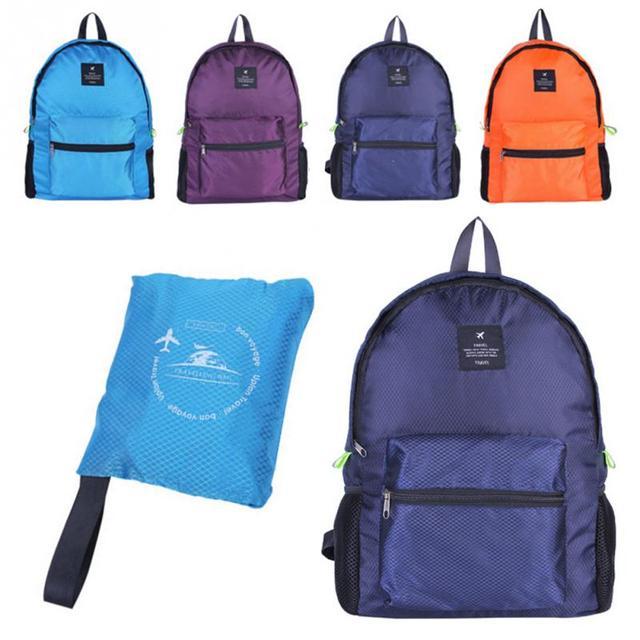 Nueva mochila plegable de nailon duradera de alta calidad Unisex ligera de viaje al aire libre senderismo mochila portátil de Camping