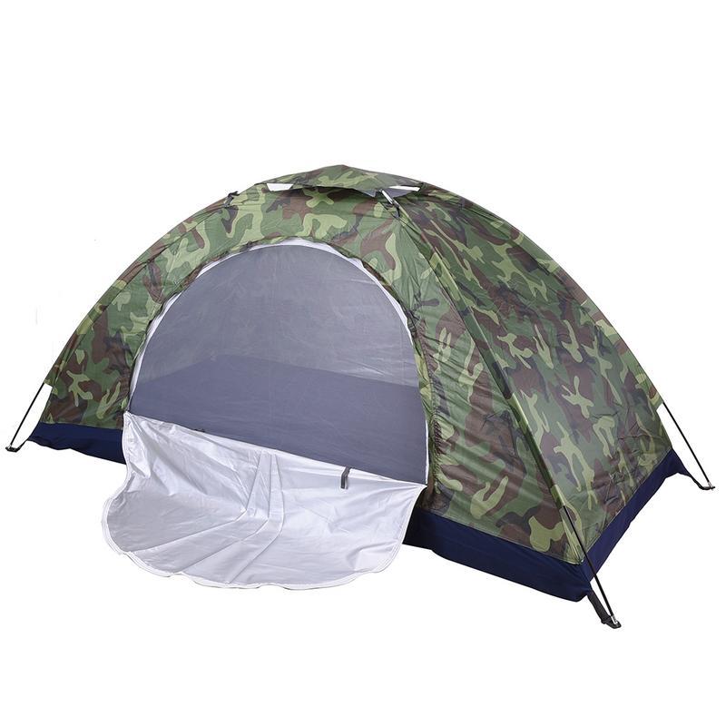 Tente de Camping tente de plage Camouflage ultra-léger extérieur monocouche tente militaire abri de soleil randonnée voyage tente étanche
