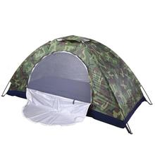 Camping Tent Camouflage Beach Tent Ultralight Outdoor Single Layer Military Tent Sun Shade Shelter Hiking Travel waterproof Tent