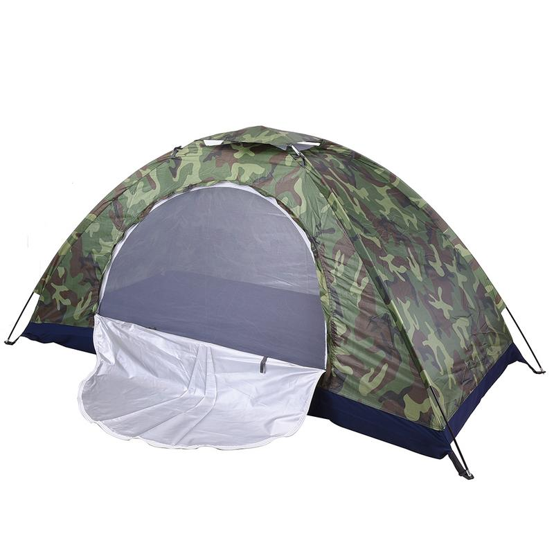 Camping Tent Camouflage Beach Tent Ultralight Outdoor Single Layer Military Tent Sun Shade Shelter Hiking Travel waterproof Tent image
