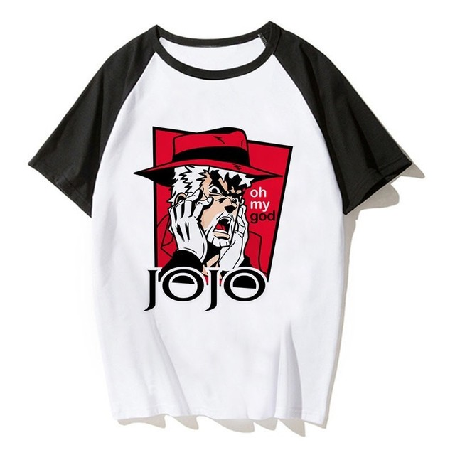 Jojos Bizarre Adventure T Shirt Anime Tshirt Joseph Joestar Japanes Anime Shirt  T-shirts Men Cool Tee Shirt Funny Tshirt