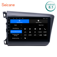 Seicane 10.1 inch Android 8.1 2DIN Car Radio GPS System for 2012 Honda Civic with Bluetooth WIFI Mirror Link 4 core 1024*600