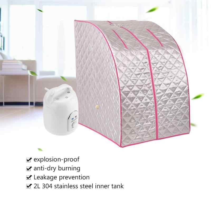 Портативный пара Паровая сауна горшок домашняя сауна парогенератор коробка кожи Spaning тела Ёмкость 2L устройство для паровой фумигации