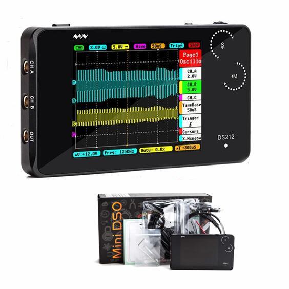 Digitaloszilloskop 100MSa//s Mini-DS213-Handheld-Digitalspeicheroszilloskop im Taschenformat mit 4 Kan/älen