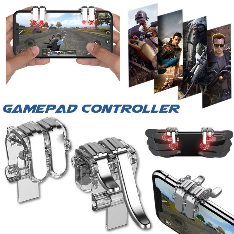 Rondaful W6 New Video Games Player Unknown Battle Ground Controller Phone Game Console Grip Holder Mobile Phone Game Accessories