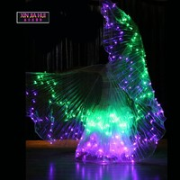 Colour Robot Disfraz Led Lights Costumes Tutu Kleidung Wings Costume Luminescence Prop Performance Show Belly Dance Circus