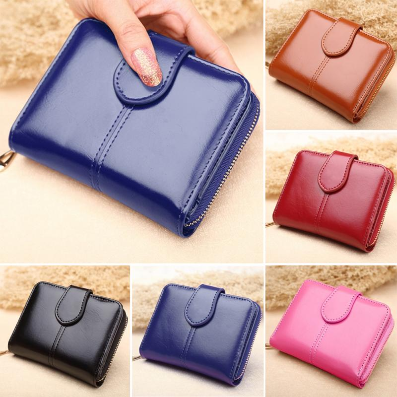 2018 New Short Type Zipper Women Wallet PU Leather Buckle Coin Pocket Female Solid Fashion Purse Money Bag #919 2016 new arriving pu leather short wallet the price is right and grand theft auto new fashion anime cartoon purse cool billfold