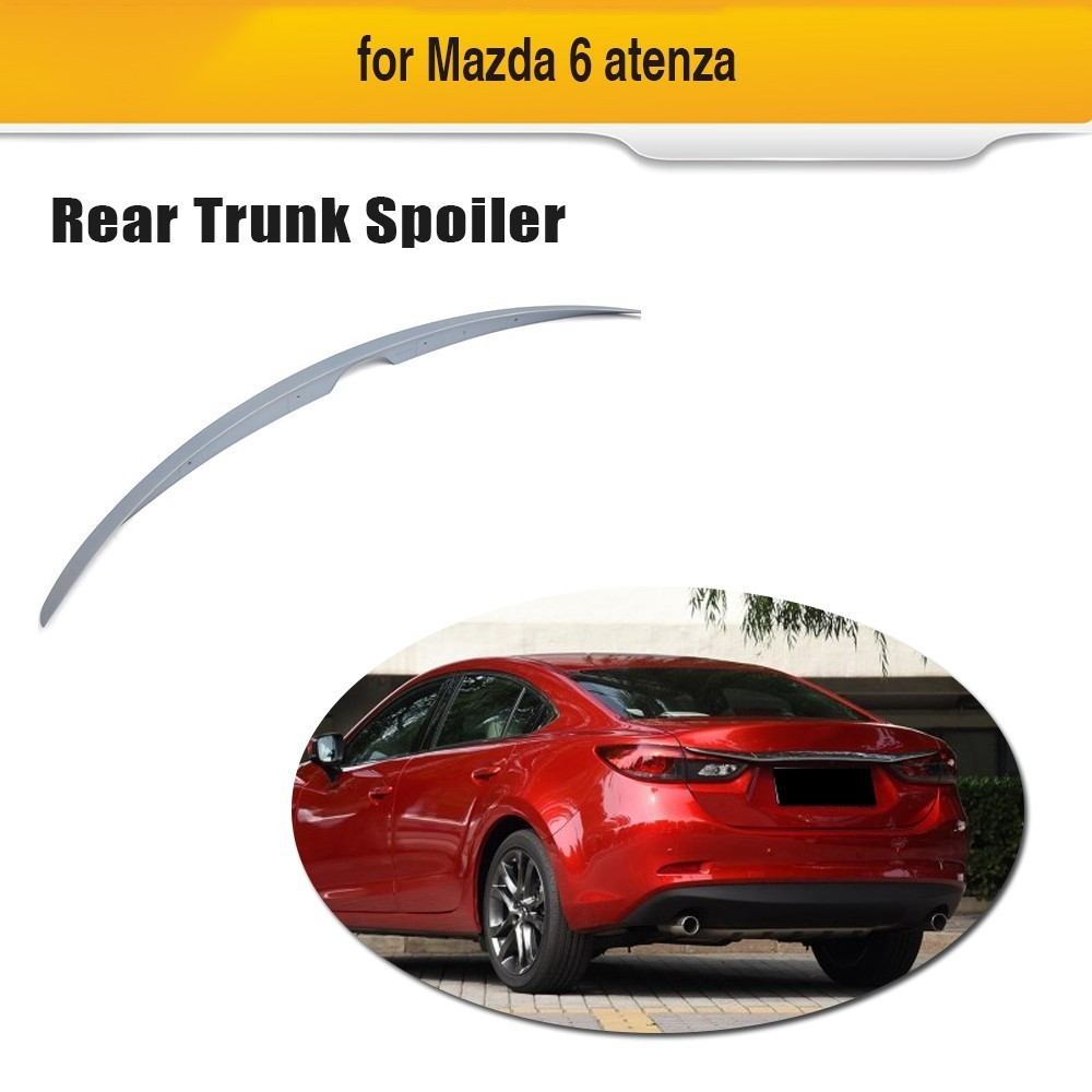 ABS Rear Trunk Lip <font><b>Spoiler</b></font> For <font><b>Mazda</b></font> <font><b>6</b></font> Atenza <font><b>2014</b></font> 2015 2016 image
