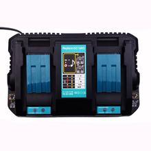 EU Plug 7.2V-18V 4A Li-Ion Fast Battery Charger With Usb Port For Makita Bl1415, 1815, 1830, 1840, 1850,1860 4a dual usb port 7 2v 18v li ion fast battery charger for makita 18v bl1415 bl1430 bl1840 bl1830 bl1440 power tool battery charg