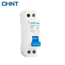 CHNT Miniature Circuit Breakers DZ267 20A 1P+N Household Small Air Switch Double Line Breaker DPN Entry