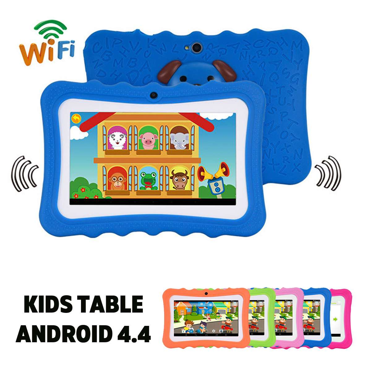 7 Inch 8GB Wifi bluetooth Android 4.4 Kids Tablet PC HD 1024x600 Quad Core Dual Camera TFT Display Child Children Gift Tablet7 Inch 8GB Wifi bluetooth Android 4.4 Kids Tablet PC HD 1024x600 Quad Core Dual Camera TFT Display Child Children Gift Tablet