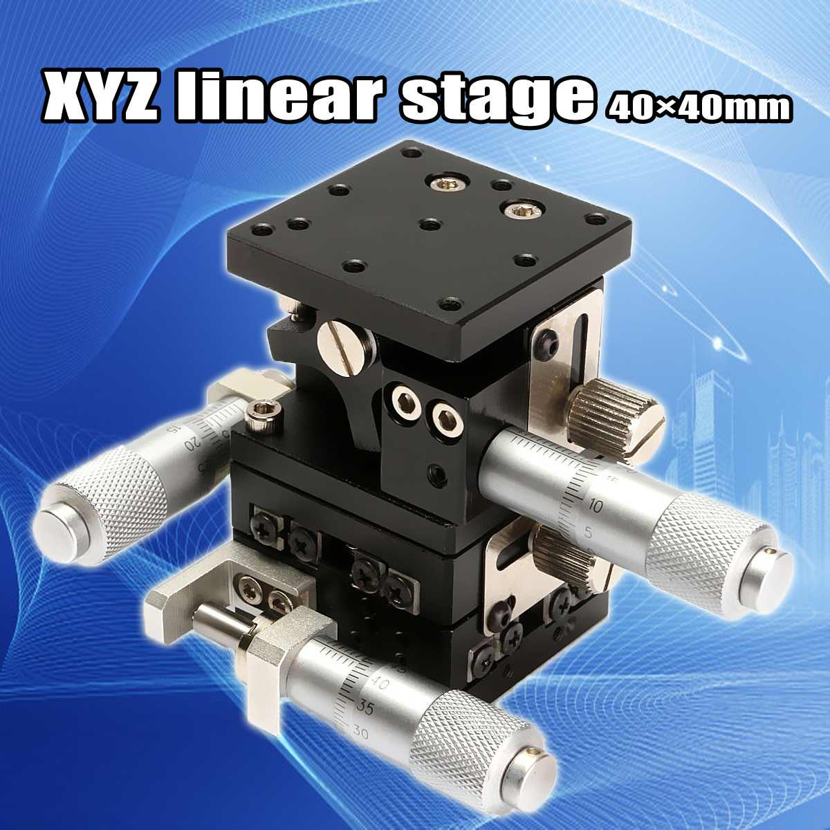XYZ Linear Stage Slip 40mmX40mm Cross-roller Bearing Miniature Compact Left HandXYZ Linear Stage Slip 40mmX40mm Cross-roller Bearing Miniature Compact Left Hand