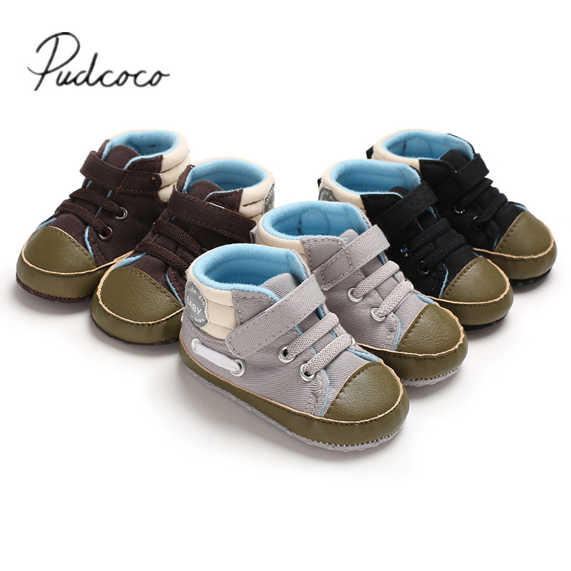 Pudcoco Casual Newborn Baby Soft Sole Crib Patchwork  Shoes Infant Boy Girl Toddler Sneaker Anti-Slip 0-18
