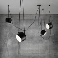 Ditoon Postmodern Led Chandelier Designer'S Lighting Living Room Dining Aluminum Lamp Nordic Circle Rings Art Black White Luster